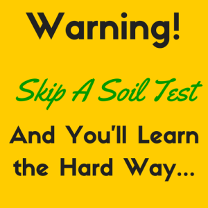 Soil Test Warning