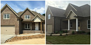 New sod and shrubs for this home near Opryland.